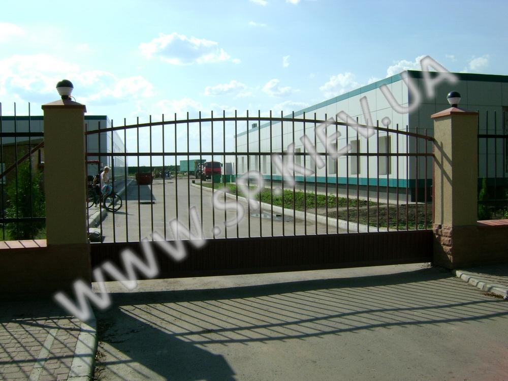 Арочные откатные ворота