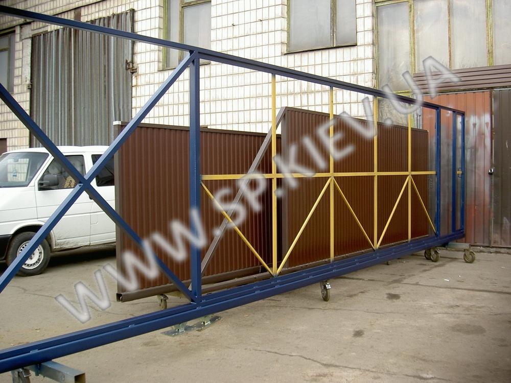 Каркас для 9 метровых откатных ворот
