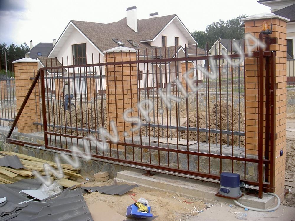 Откатные ворота из прута