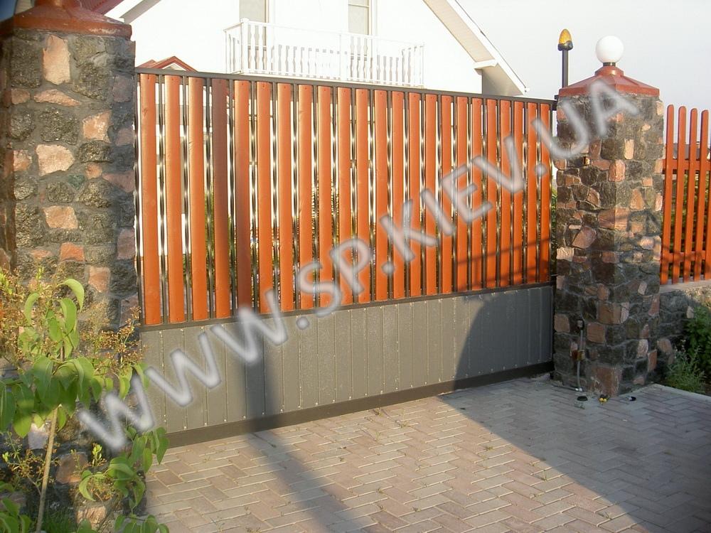 Полупрозрачные откатные ворота