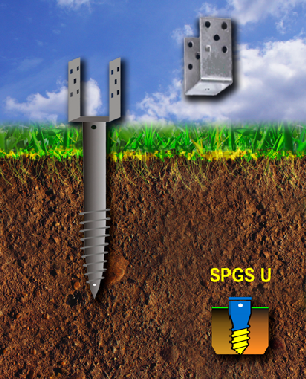 Винтовые сваи с U-образным фланцем | Серия SPGS U